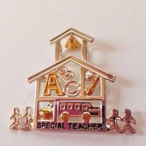 Jewelry - Special Ed Teacher Pendant Pin Jewelry New Gift